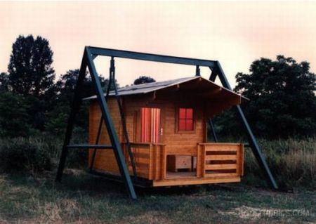 Schommel In Huis : Huis op een schommel villa palladio