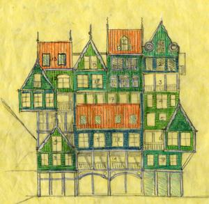Schets van Sjoerd Soeters, hij zegt dat het ontwerp dateert uit 2004