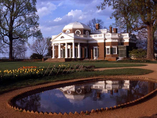 Het huis Monticello van Jefferson in Virginia